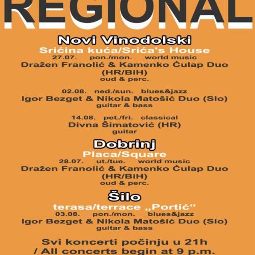 Regional 2020 raspored
